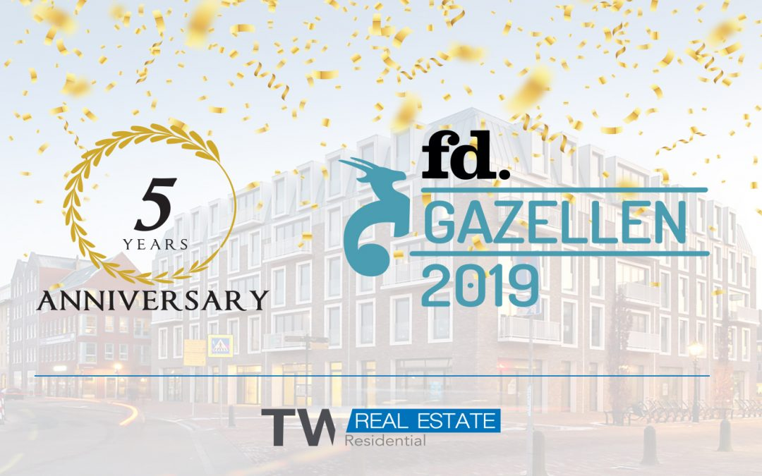 TW Residential BV bestaat 5 jaar en wint FD Gazelle Award
